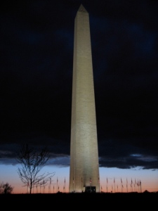 Washington Monument @ sunset, after a storm